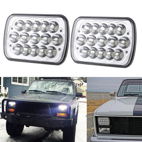 5x7 LED Headlights for Jeep Cherokee XJ YJ