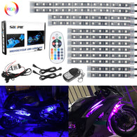Sunpie 12 pcs motorcycle LED Light Kit Strips with Bluetooth Remote