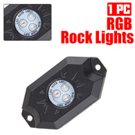 1pc Pod RGB LED Rock Lights Multicolor Wheel Well lights for for Jeep Off Road Truck Car ATV SUV UTV