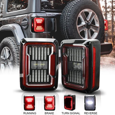 New Arrivals 2007-2018 Jeep Wrangler JK JKU Lens LED Tail Lights (2pcs/set)