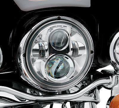 Sunpie 7 Led Daymaker Headlight For Harley Davidson Motorcycle Chrome