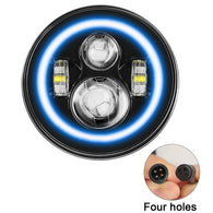 1Pc RGB Halo LED Headlight
