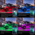 4pcs LED RGB Rock Lights Underglow Neon Lighting Kit with App Remote Control