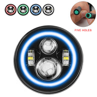 1Pc RGB-W Halo LED Headlight (5 Pin Green new product)