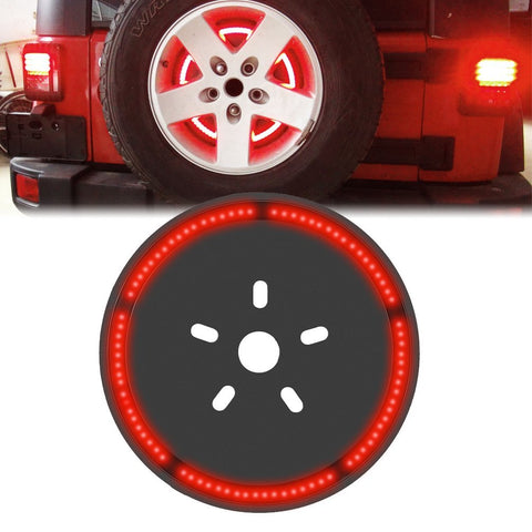 Jeep Wrangler 85 pcs LED Chip Third Brake Tail Spare Tire Light 12V - Sunpie