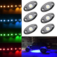 LED Rock Light Kits with 6 pods Lights for Off Road Truck Car ATV SUV - Sunpie