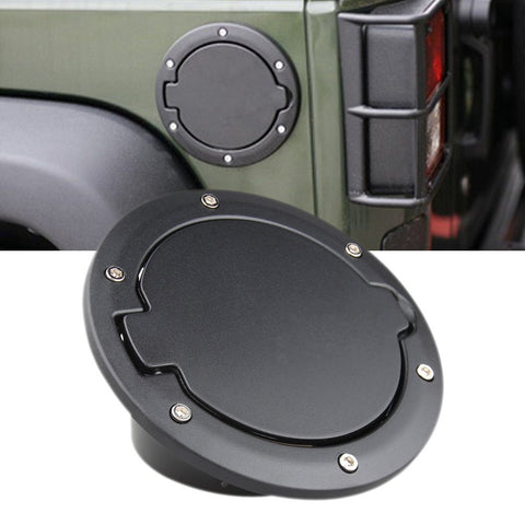 Sunpie Fuel Filler Door Cover Gas Tank Cap cover for Jeep Wrangler JK JKU - Sunpie