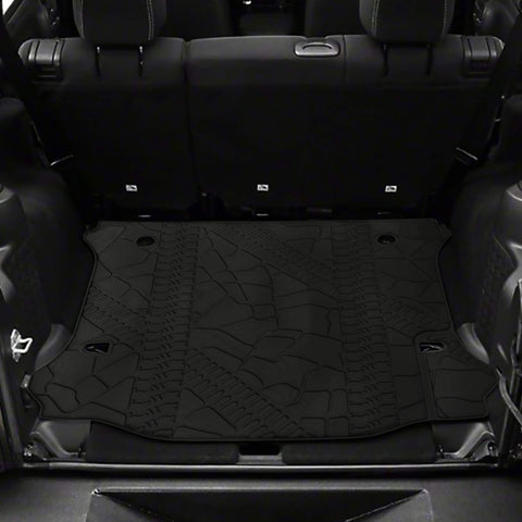 Jeep Wrangler Unlimited 4 door rear cargo mat cargo trunk liner black textured 2012-2018