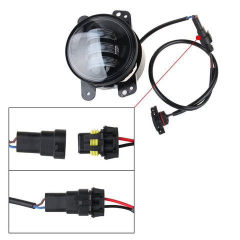 LED Fog Lights Lamp Adapter Wires - Sunpie