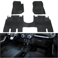 Jeep Wrangler Front and Rear Floor Liners Floor mats JK Unlimited 2014-2018