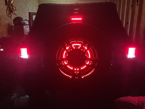 Jeep Wrangler Fog Lights >> Jeep Wrangler JK 2007-2017 12V 3rd Brake Light LED ring ...