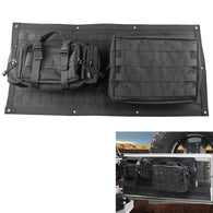 Jeep Wrangler JK Tailgate Cover Black Tail Gate Storage Bags - Sunpie
