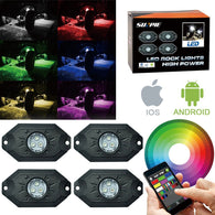 Sunpie 4 pod mini RGB LED Rock Lights kit Bluetooth APP Control