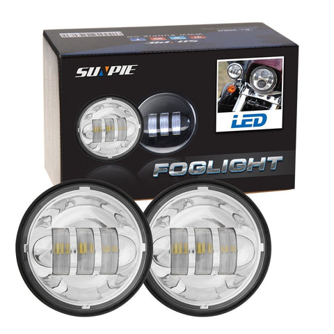 "Sunpie 4.5"" daymaker LED Passing Light fog lamps Chrome/Black - Sunpie"