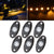 Sunpie 6 pod LED Rock Lights Kit for Off Road Jeep Truck Car ATV SUV (Monochrome, 5 Colors Available)