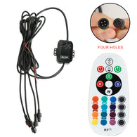 "SUNPIE 7"" RGB Halo Headlights Control box and Remote Control (4 holes)"
