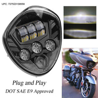 Sunpie Black LED Motorcycle Headlights for Victory Motorcycles Cross Country Series
