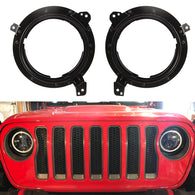 "7"" Headlight Retrofit Bracket for Jeep Wrangler JL JLU 2018 2019 (Pair) (LED Wiring Adapters Included)"