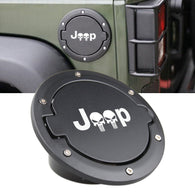 Fuel Filler Door Cover Gas Tank Cap for 2007-2017 Jeep Wrangler JK & Unlimited 4-Door 2-Door