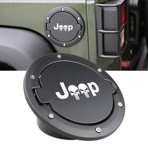 Gas Tank Cap Fuel Filler Door with Lock for Jeep Wrangler JK 2007-2017