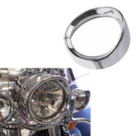 "7Inch Harley Headlight Chrome Ring, 7"" Motorcycle Head Lamp Trim Rings Visor Type Decorate Ring"