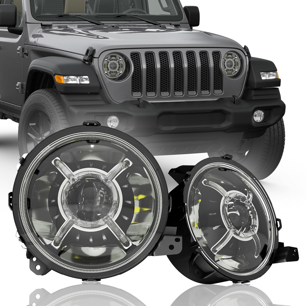 True 9 Inch Led Headlights For Jeep Wrangler Jl Amp Jt