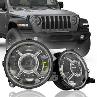 Jeep Wrangler JL 9 inch LED Headlights for 2018 2019 2020 JT Gladiator