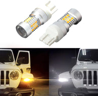 Switchback Turn Signal LEDs for 2018+ Jeep JL Wrangler Sport (pair)