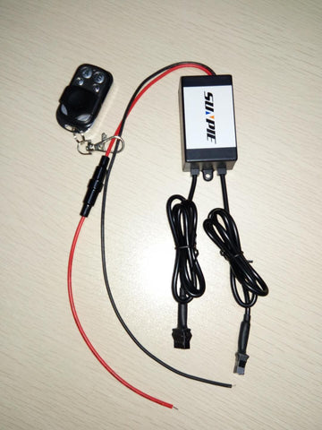 Sunpie remote and receiver for motorcycle strip lights - Sunpie