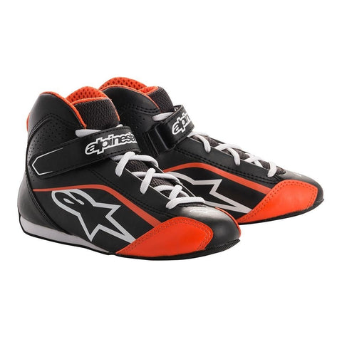 Tech 1 K S Youth Boots - Black/White/Orange