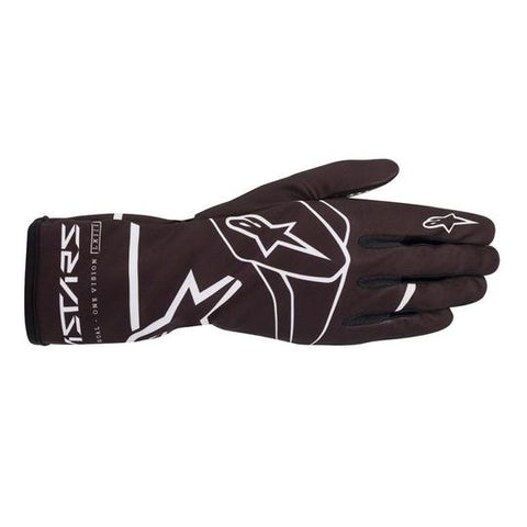 Alpinestar Glove Tech 1K Race Adult V2 Solid Black/White