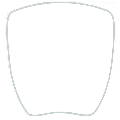 Kartech Number Plate Nassa Sticker - White 205 x 200mm