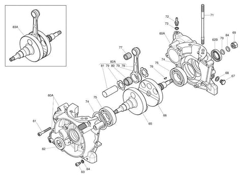 Crankcase And Crankshaft Parts