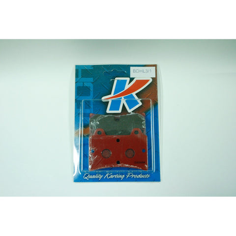 Kartech Brake Pads 15mm Soft Red Set