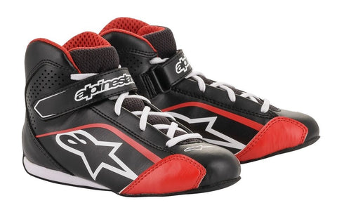 Tech 1 K S Youth Boots - Black/White/Red