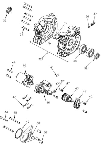 Mini Rok Crankcase and Starter Motor