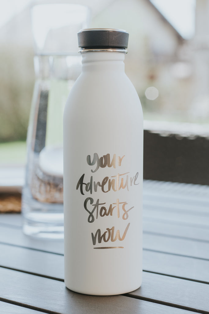 "Trinkflasche ""your adventure starts now"""