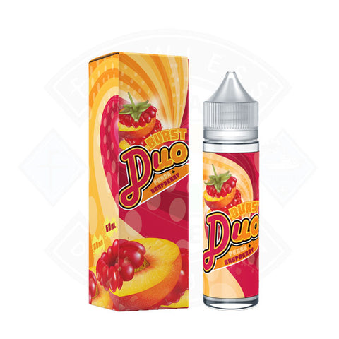 Vape E liquid Burst Duo Peach Raspberry