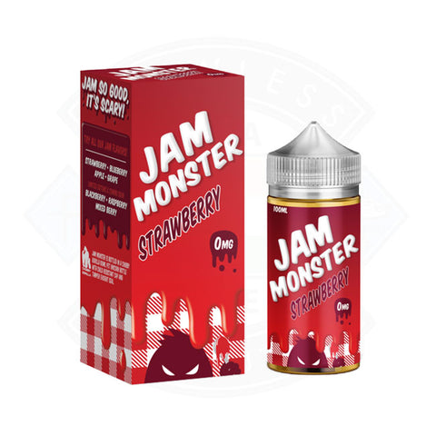 Vape E liquid Jam Monster Strawberry