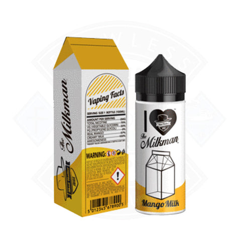 Vape E liquid Mad Hatter I Love The Milkman Mango Milk