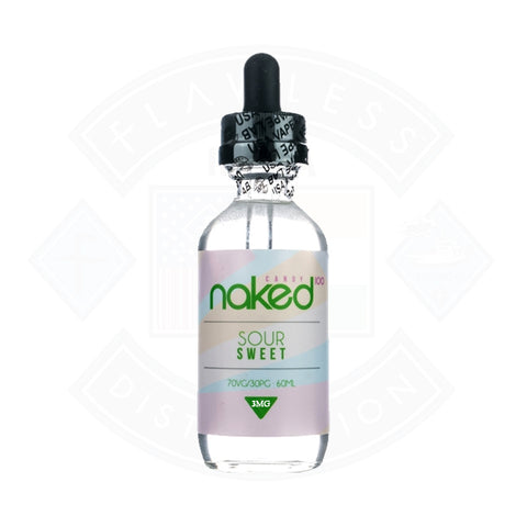 Vape E liquid Naked 100 Sour Sweet
