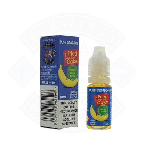 Vape E liquid Puff Dragon Fried Banana Cake