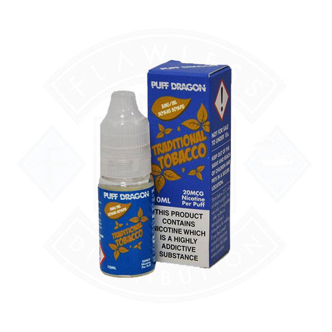 Vape E liquid Puff Dragon Traditional Tobacco