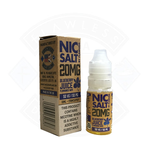 Vape Nic Salt E liquid Flawless Blueberry Juice