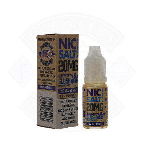 Vape Nic Salt E liquid Flawless Blueberry Slush