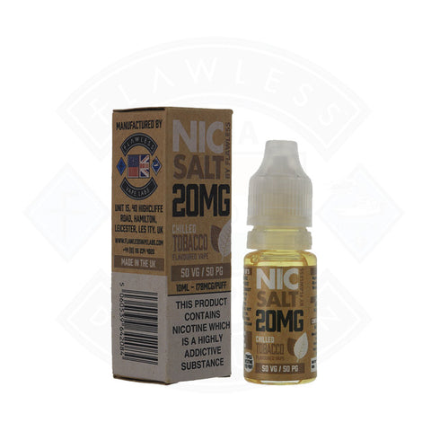 Vape Nic Salt E liquid Flawless Chilled Tobacco