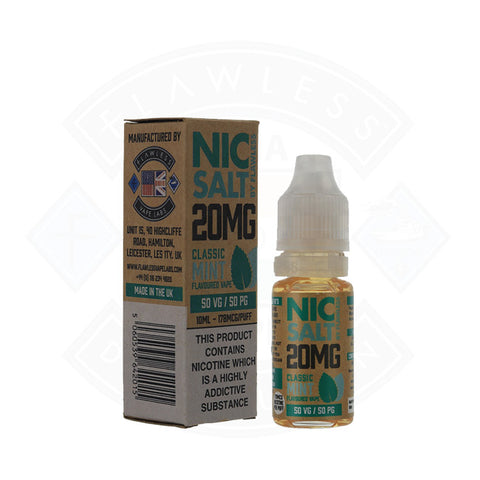Vape Nic Salt E liquid Flawless Classic Mint