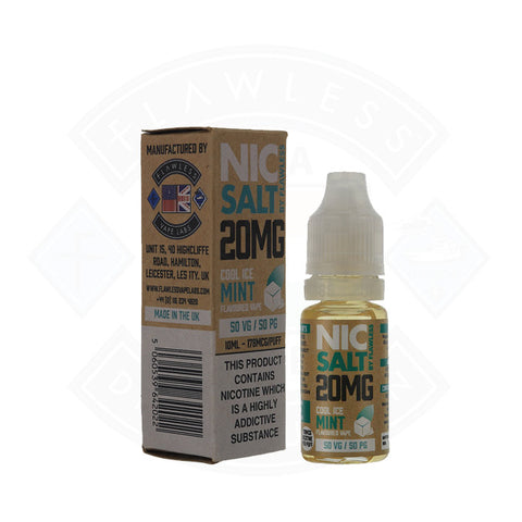 Vape Nic Salt E liquid Flawless Cool Ice Mint