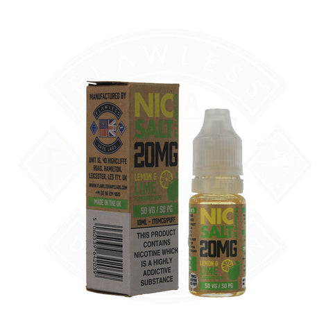 Vape Nic Salt E liquid Flawless Lemon and Lime