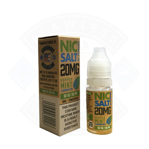 Vape Nic Salt E liquid Flawless Peppermint